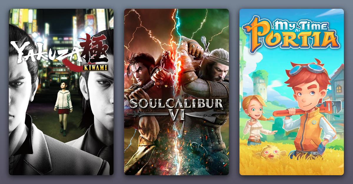 PCDD: Soul Calibur VI + Yakuza Kiwami + My Time At Portia $12