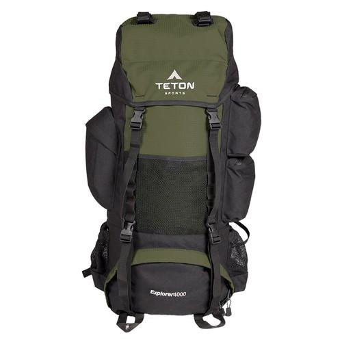 TETON Sports Explorer 4000 Internal Frame Backpack for Backpacking, Hiking, Camping; Sewn-in Rain Cover [Hunter Green]: $54.85 + Free Shipping