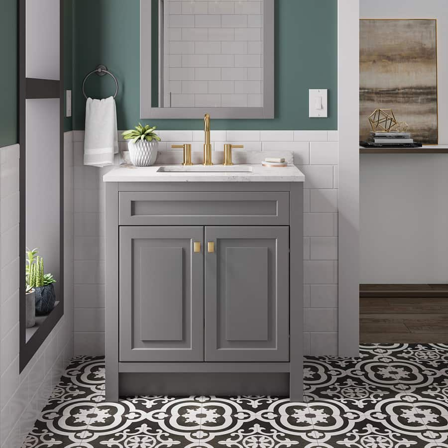 Excellent Lowes Style Selections Euro 24 5 In Gray Sink Bathroom Beutiful Home Inspiration Xortanetmahrainfo