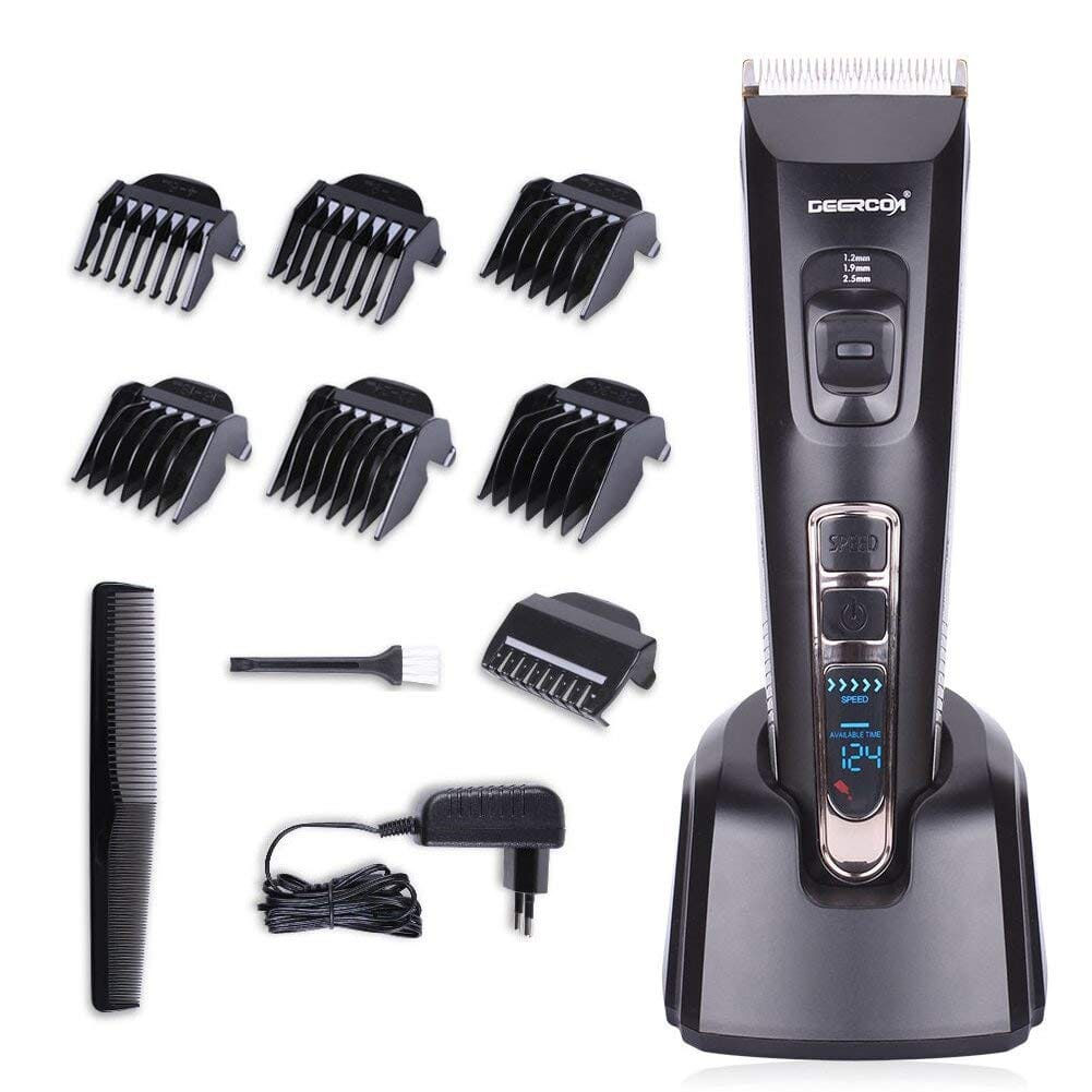 Deercon Cordless Hair Clipper For Men Speed Adjustable Hair Trimmer With Ceramic Blade Rechargeable Usb Hair