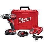 Milwaukee M18 18-Volt Lithium-Ion Cordless Drill Driver w/ 2 Batteries + FREE 18V impact driver @ InternationalTool for $149 AC + FS