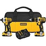 Factory-Reconditioned Dewalt DCK281D2R 20V MAX XR Cordless Lithium-Ion 1/2 in. Brushless Drill Driver and Impact Driver Combo Kit - $169.99 + FS @ Ebay