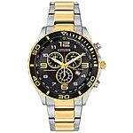 Citizen Men's Chronograph Eco-Drive Two-Tone Stainless Steel Bracelet Watch 43mm AT2124-51E + $20 Macys Money - $103 AC + FS @ Macys