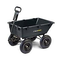 Lowes Deal: Gorilla Carts GOR866D Heavy-Duty Garden Poly Dump Cart with 2-In-1 Convertible Handle, 1,200-Pound Capacity, 40-Inch by 25-Inch Bed, Black Finish - $84 AC @ Lowes