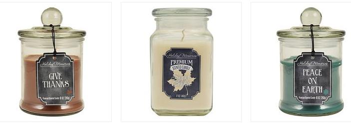 Kohls Cardholders: Holiday Memories Jar Candles (10oz - 17oz sizes) - $2.80 AC + FS @ Kohls