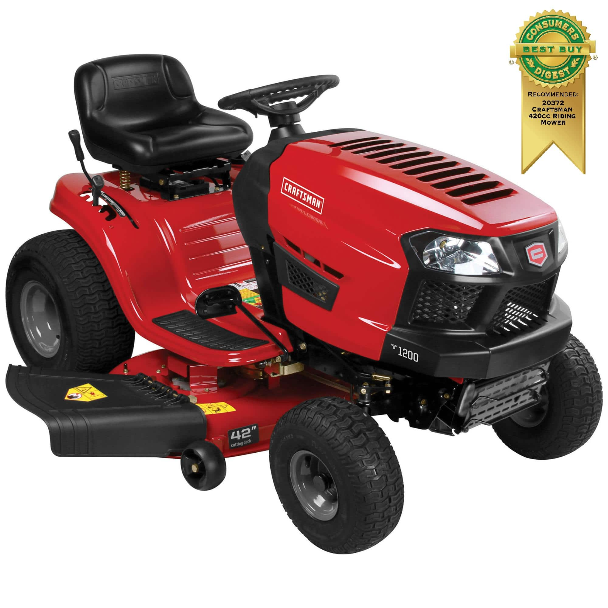 "Craftsman 42"" 19 HP B&S TurnTight Riding Mower $111 SYWR Points"