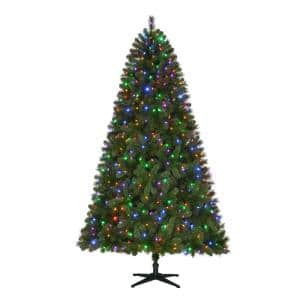 Home Accents Holiday 7.5 ft. 1400 tips 550ct Pre-Lit LED Wesley Spruce Artificial Christmas Tree with Color Changing Lights - $37.25 + FS @ Homedepot