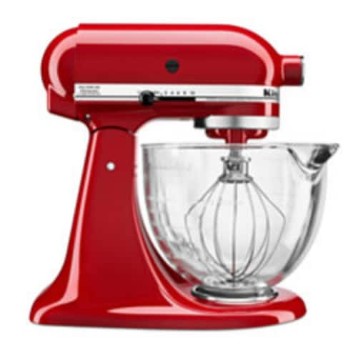 KitchenAid KSM105GBC 5 qt. Stand Mixer with Glass Bowl & Flex Edge Beater - $175 AC + FS @ Macys