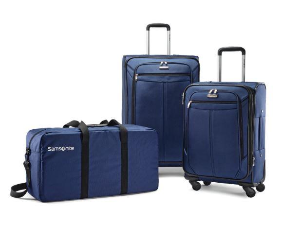 Samsonite 2-Pc. Spinner Luggage Set plus Duffel Bag (Black/Blue) - $99 + FS @ BJs Wholesale