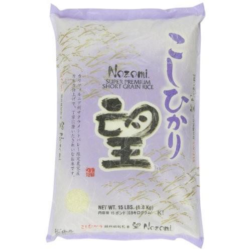 Nozomi Super Premium Short Grain Rice, 15-Pound $23.61@amazon