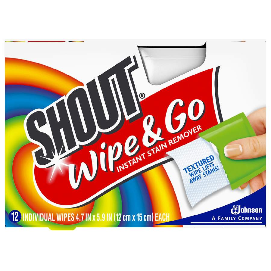 Shout Wipe & Go Stain Remover Wipes