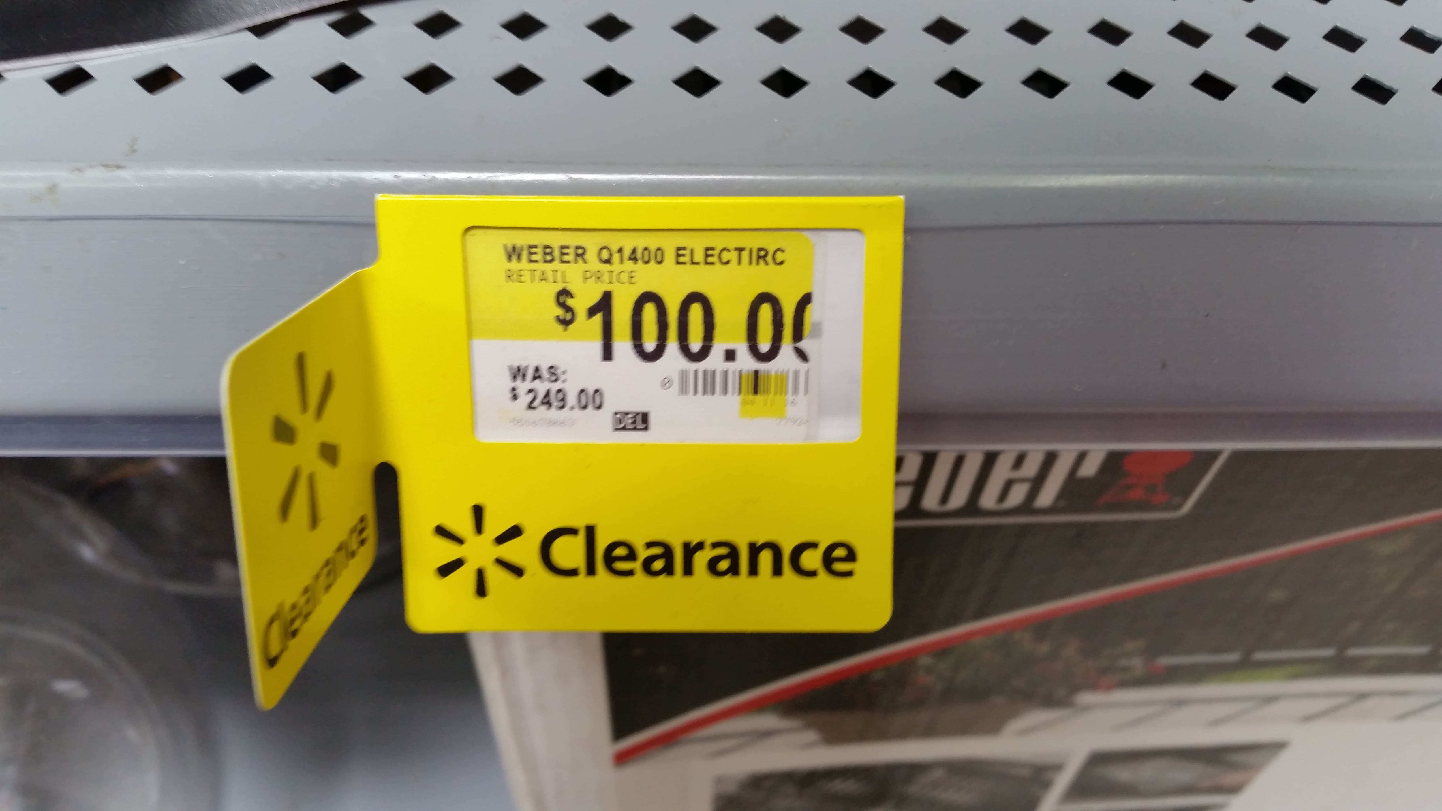 Weber Q1400 Electric Grill on clearance for $100 normally $249 YMMV