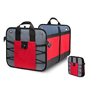 Soyan Trunk Organizer for Car / SUV / Sedan / Van, Foldable and Heavy-Duty Trunk Grocery Organizer $16.92 @Amazon