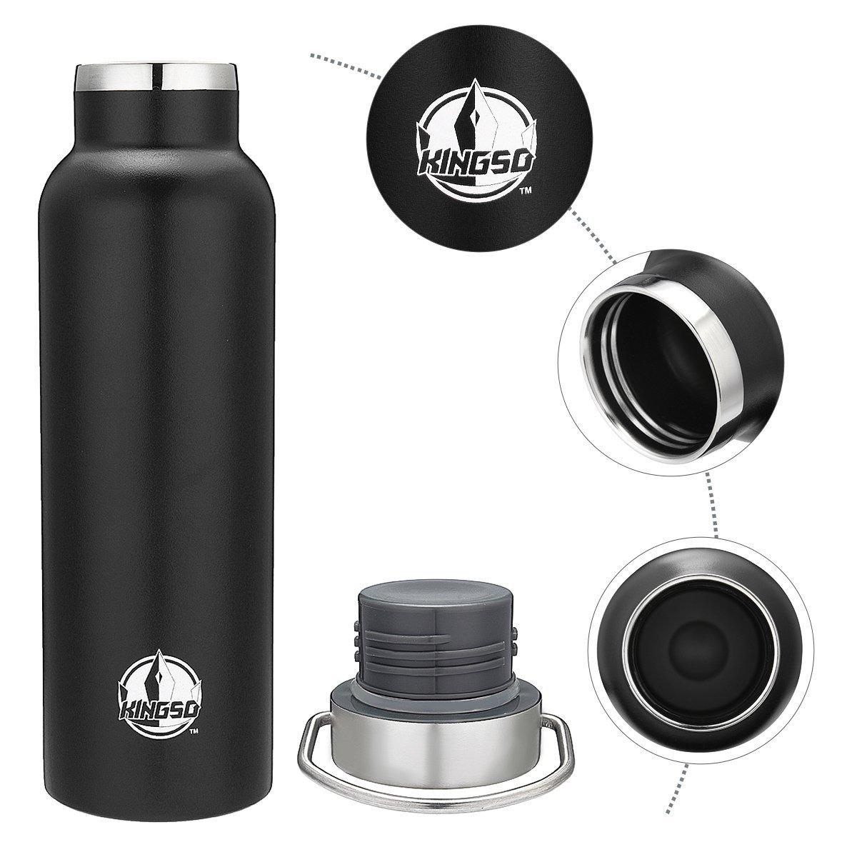 KINGSO 20oz Stainless Steel Sports Water Bottle Travel Mug $10.94