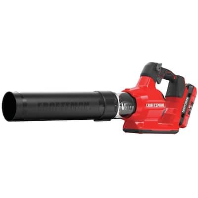 Lowes CRAFTSMAN V60 60-volt Max 600-CFM Cordless Brushless Electric Leaf Blower (Battery & Charger Included) $59.75