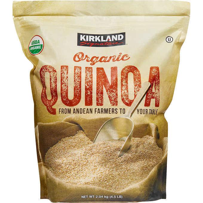Kirkland Signatures 4.5 lb organic quinoa @$9.99 + $10 off $40 w Google Express