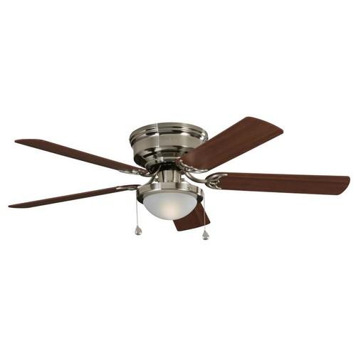 Travel Ceiling Fan : Lowe s quot nickel ceiling fan off