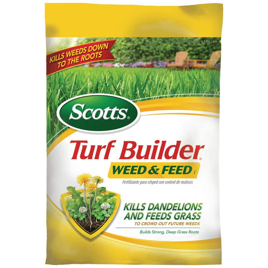 Lowes Scotts 15M Turf Builder Weed and Feed Lawn Fertilizer (28-0-4) $21.59 60% off