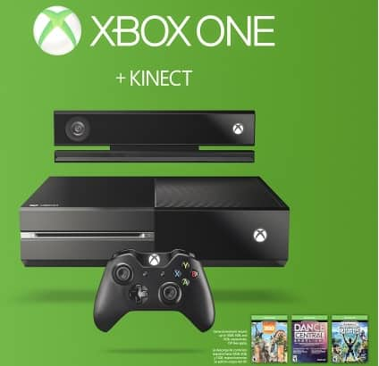 Xbox One 500GB Console with Kinect Bundle $349.99 BB