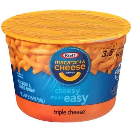 10 Pack Kraft Easy Mac Triple Cheese, 2.05-Ounce Microwavable Cups $6.86 w/ 5% S&S, as low as $5.88 Via Amazon S&S