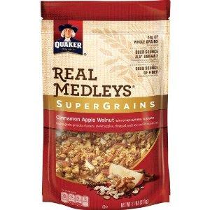 *DEAD* 6 Pack Quaker Real Medleys Super Grains Granola, Cinnamon Apple Walnut  $7.17 Via Amazon S&S