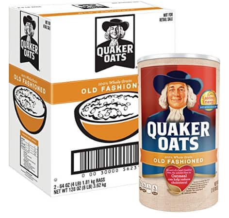 8lbs  (( 2- 4lb packages))  of Quaker Oats Old Fashioned Oatmeal $6.70 Via Amazon S&S