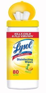 3 Pack of Lysol Disinfecting Wipes Value Pack, Lemon & Lime Blossom, (( 80 Wipes per pack)) Total of 240 Wipes $6.17 Via Amazon S&S