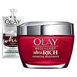 Olay Regenerist Ultra Rich Face Moisturizer with Vitamin B3+, Amino Peptide & Shea Butter, 1.7 Oz + Whip Face Moisturizer Travel/Trial Size Gift Set $13.71