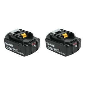 Makita BL1840B-2 18-Volt 4.0Ah LXT Lithium-Ion Battery, 2-Pack $92.95
