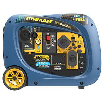 Firman 2900W Running / 3200W Peak Electric Start Gasoline or Propane Fuel Powered Inverter Generator Gas and LP $629.99