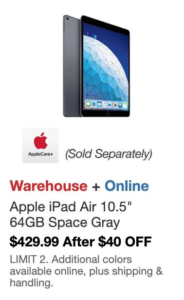 New Apple iPad Air - A12 Chip - 64GB - Latest Model (Starts 6/24) $429.99