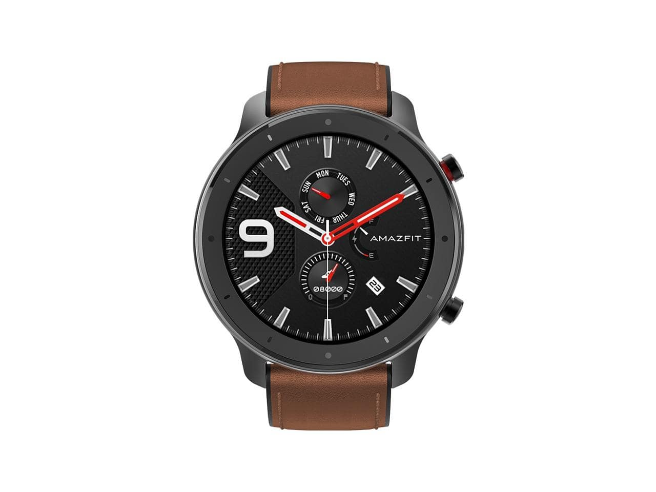 Amazfit GTR Smartwatch w GPS+GLONASS, All-Day Heart Rate Monitor, Rate and Activity Tracking, 24-Day Battery Life, 12-Sport Modes, 47mm, Aluminum Alloy $89.99