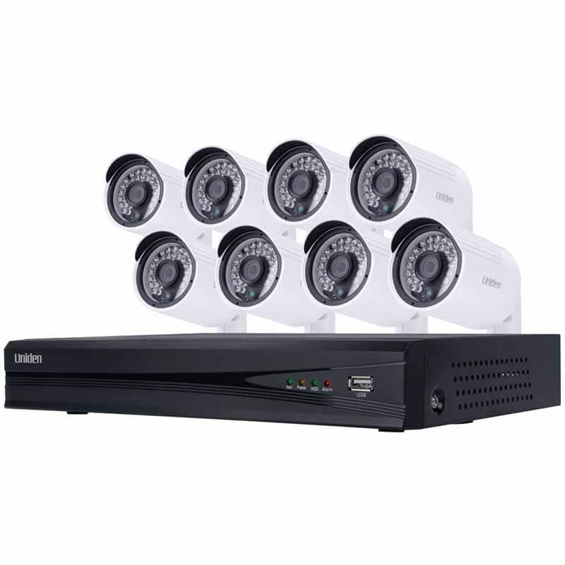 Uniden 8 Channel NVR Security System with 8x1080P HD Outdoor-Rated Cameras with 2TB Hard Drive - $449 with promo code