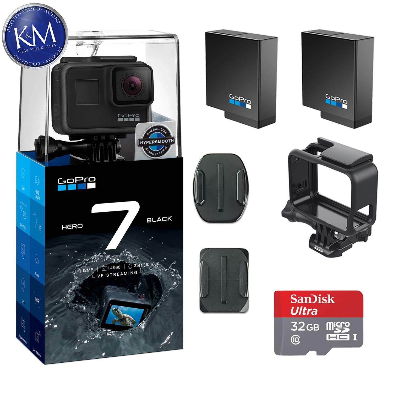 GoPro Hero 7 Black w/ 2 Extra Batteries + 32GB Memory Card $329
