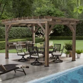 Backyard Discovery 14' x 10' Silverton Pergola with Electric Outlets (Barnwood) - $200 off $1099