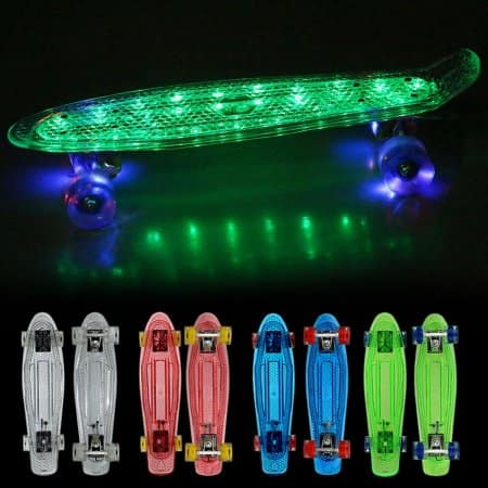"22""Upgrade Cruiser Crystal Outdoor Complete Skateboard $34.99"