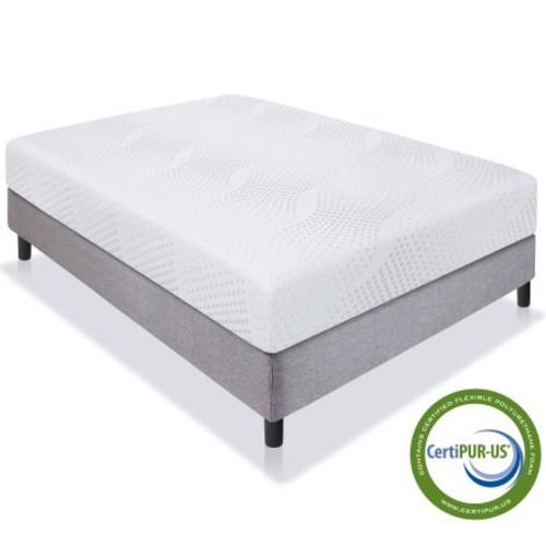 "Best Choice Products 10"" Dual Layered Memory Foam Mattress Queen- CertiPUR-US Certified Foam $215.99"