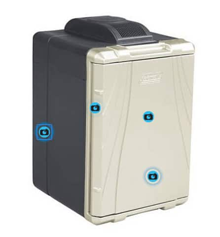 Coleman 40-Quart PowerChill Thermoelectric Cooler with Power Cord, Black/Silver $72.7