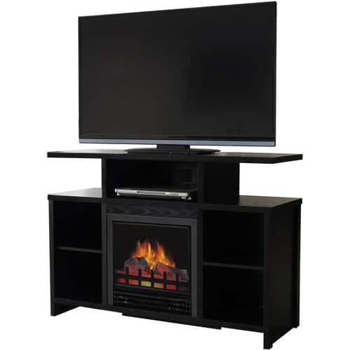 """Décor Flame Acadia 42"""" Media Fireplace, for TVs up to 50"""", Black $115.99"""