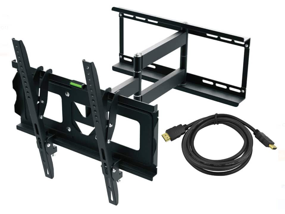 "Full Motion TV Wall Mount Kit with HDMI Cable for 19"" - 70"" Displays $29.99"