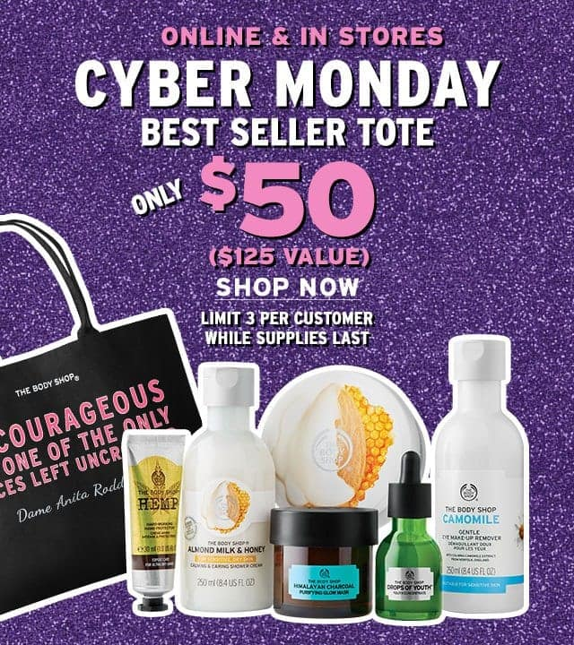 The Body Shop - 50% off sitewide with some exclusions + free shipping, no minimum