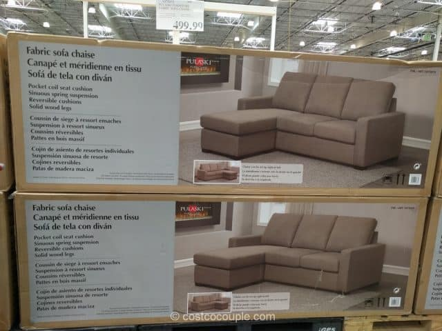 Costco In Store Pulaski Fabric Sofa Chaise 349 99