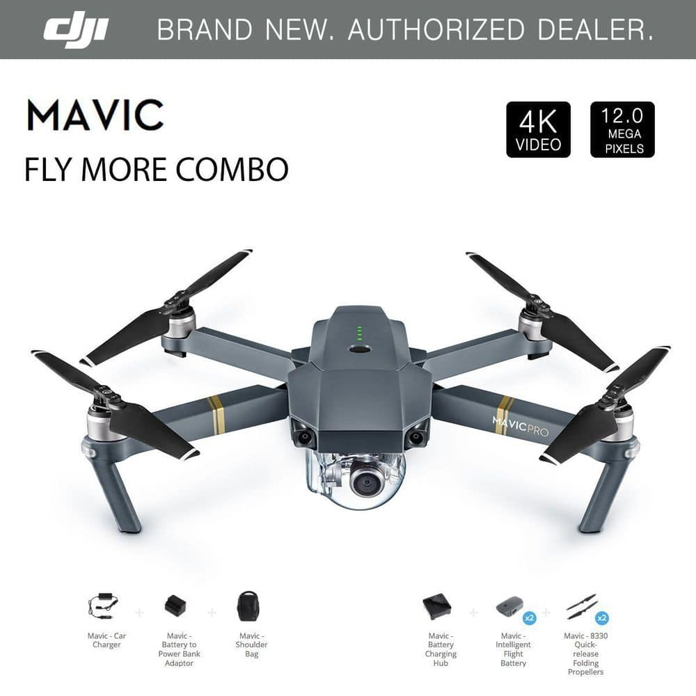 DJI Mavic Pro Drone Fly More Combo for $719.99 after 10% eBay coupon