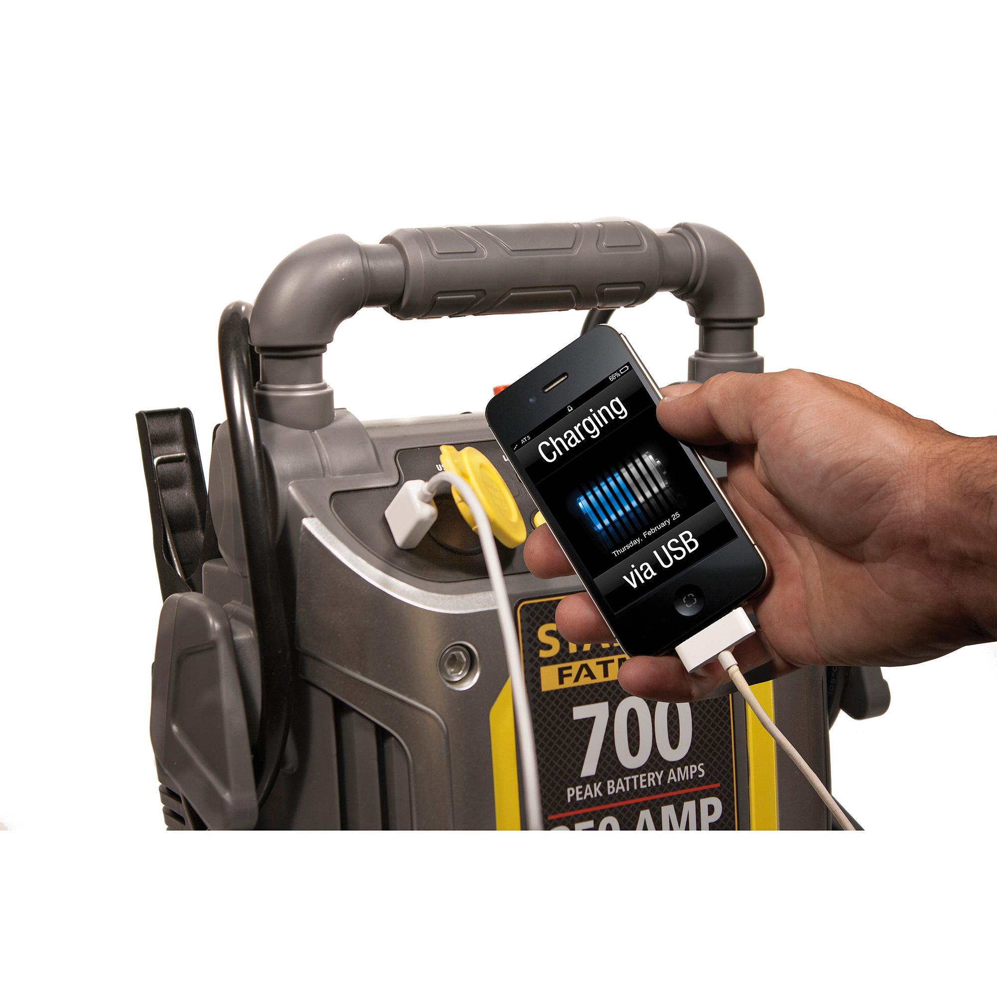 Stanley 'FatMax' 700-Amp Peak Jump Starter with Compressor as low as $13 - YMMV @ Walmart