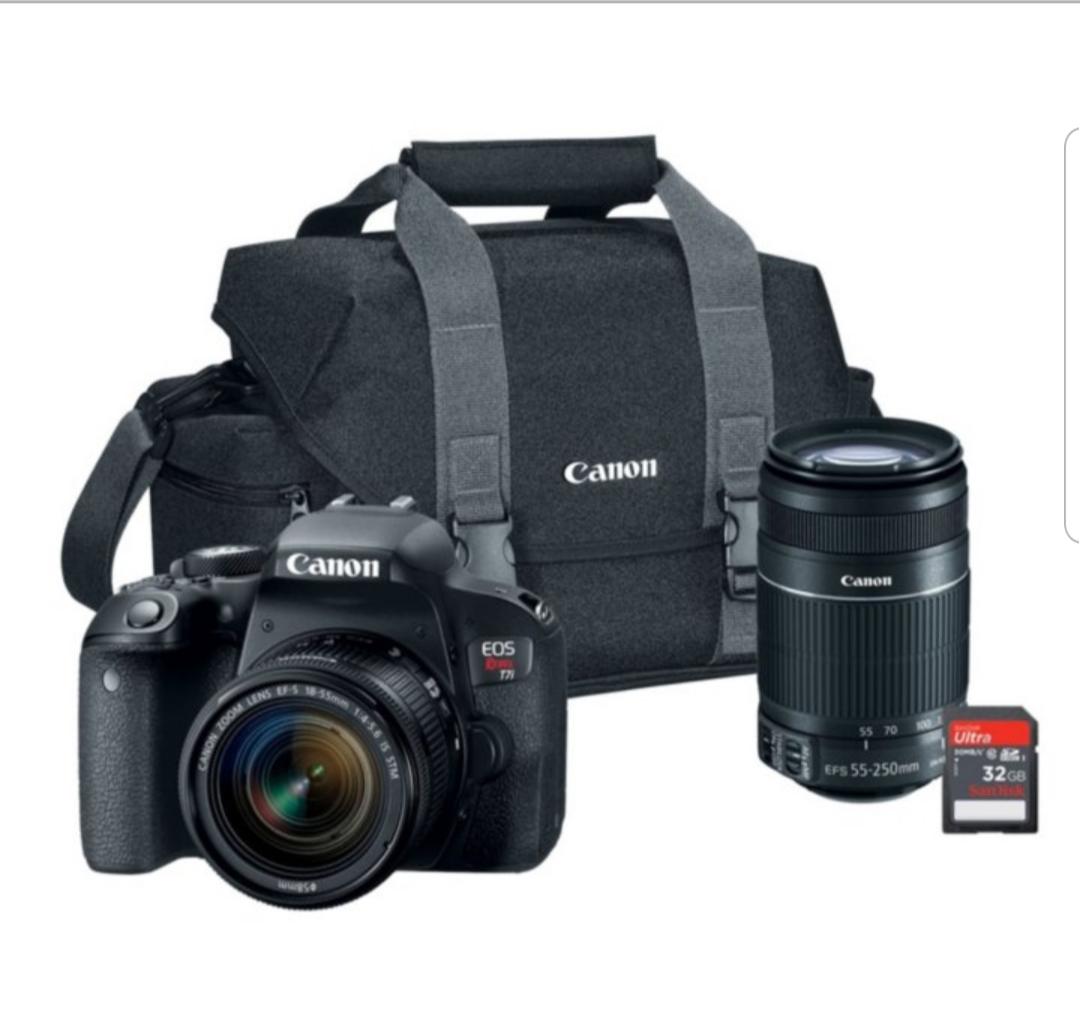 Canon EOS Rebel T7i Bundle with EF-S 18-55mm STM Lens, 55-250mm Lens $556.31 @ Sam's Club B&M only - YMMV