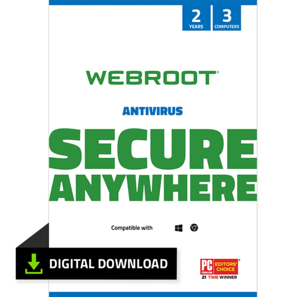 Webroot 2 Year Sub Internet Security/Antivirus 3 Devices (via email) $24.99