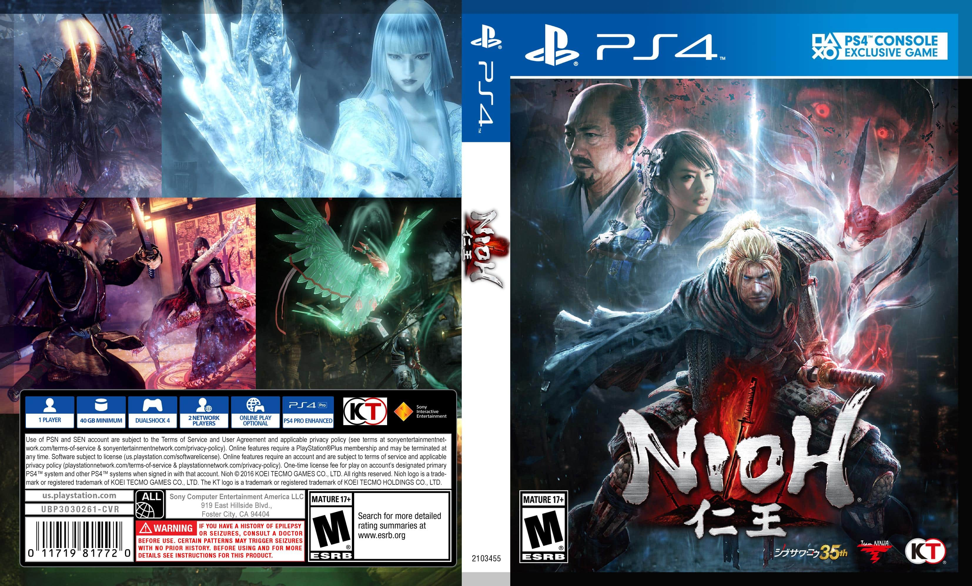Nioh (PS4) $19.99 + Free Shipping with Amazon Prime