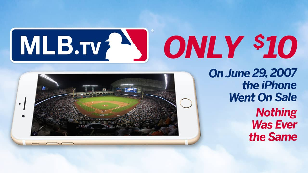 MLB.tv flash sale, 6/29 only $10, 6pm-7pm ET $10