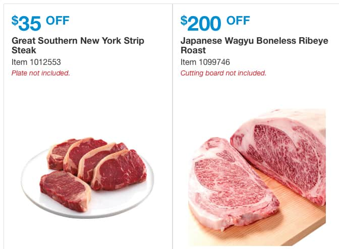 13 lb Japanese Wagyu Ribeye $1,099.99 after $200 discount at Costco.com, 11/28-12/24