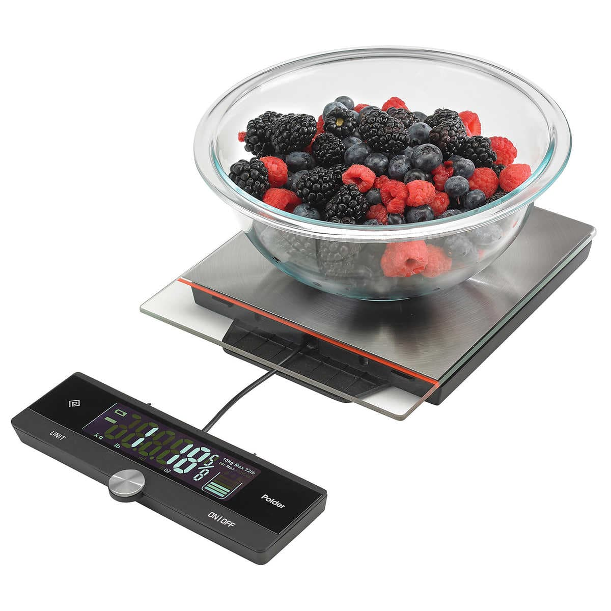 Polder Kitchen Scale: Polder 22lb. Digital Kitchen Scale With Pull-Out Display